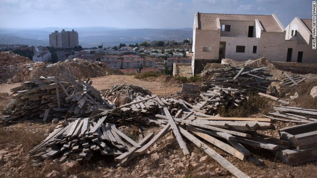 A construction site for a new neighborhood in the Jewish settlement of Ariel, in the West Bank, in July 2013.