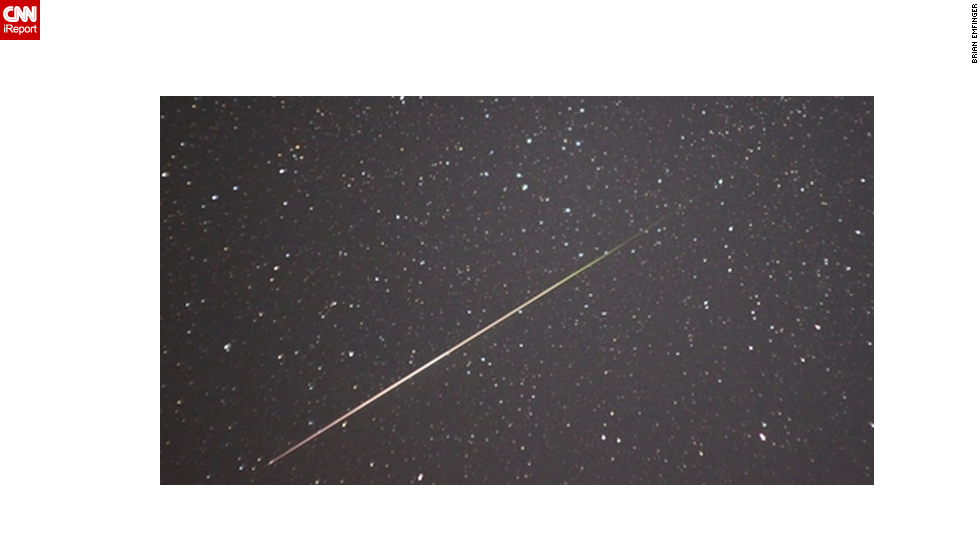 "<a href=""http://ireport.cnn.com/docs/DOC-481620"">Brian Emfinger</a> stayed up all night to photograph the Perseid meteor shower over Ozark, Arkansas, in August 2010."