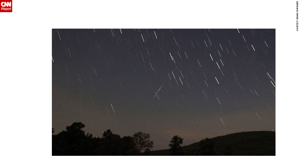 "Another view of the 2012 Perseid meteor shower from Ozark, Arkansas, captured by <a href=""http://ireport.cnn.com/docs/DOC-480732"">Brian Emfinger</a>."