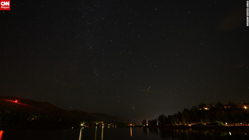 """<a href=""""http://ireport.cnn.com/docs/DOC-828081"""">Norman Jester</a> captured photos of the Perseid meteor shower from Big Bear Lake, California, back in August 2012. """"Seeing them with your own eyes and then having the ability to show people what you have seen is just a better way to live,"""" he said."""