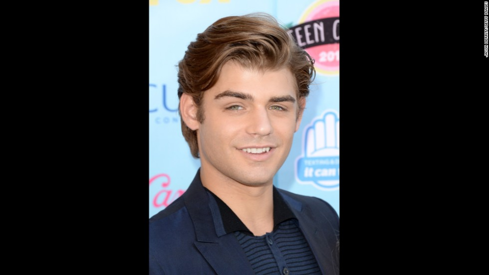 "Actor Garrett Clayton, who appeared in ""Teen Beach Movie,"" arrives."