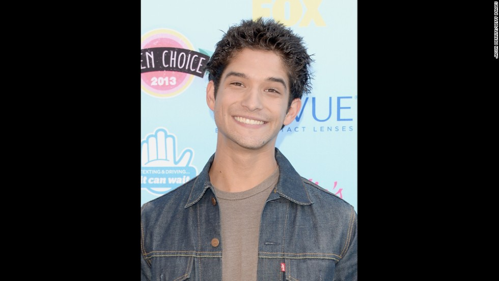 "Actor Tyler Posey, from MTV's ""Teen Wolf,"" arrives."