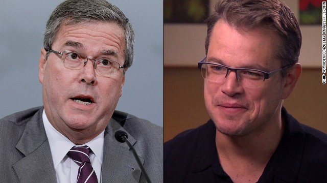 Jeb Bush tweeted a criticism of Matt Damon for not putting his support of public schools into practice.