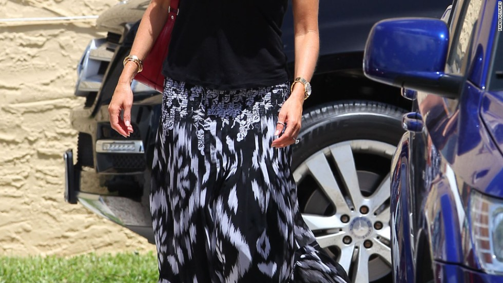 Sofia Vergara is all smiles while filming a movie in Miami, Florida on August 11.