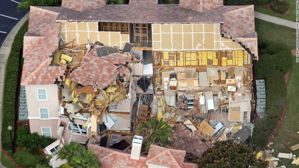 Guests at the Summer Bay Resort in Clermont, about 10 minutes from Walt Disney World, called for help before the collapse, saying they heard loud noises and windows cracking.