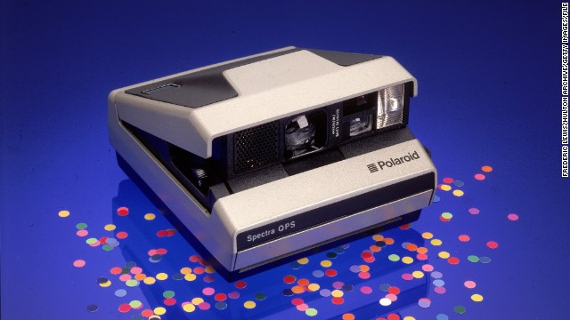 Still-life of a Polaroid Spectra QPS model camera, early 1980s. (Photo by Frederic Lewis/Hulton Archive/Getty Images)