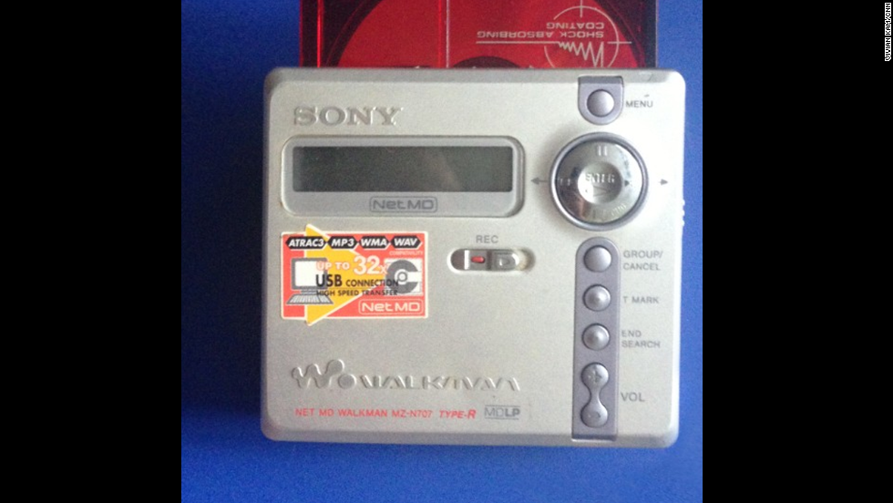 The MiniDisc was something of a hybrid of small CD and plastic cassette. Journos loved them, particularly if you worked in radio as editing was a breeze. These durable gadgets took up little space and were anti-skip, unlike (pre-memory) CD players. Per the original Walkman, it was a Sony product. The company laid the MD to rest earlier this year.