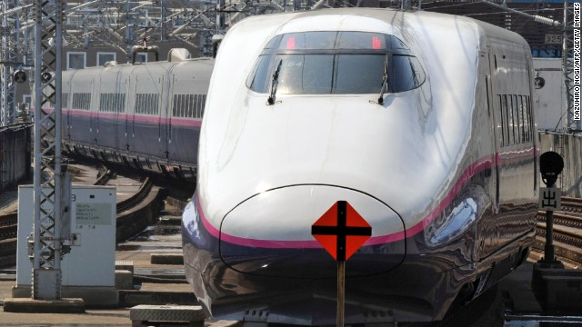 A Shinkansen bullet train pictured in Tokyo.