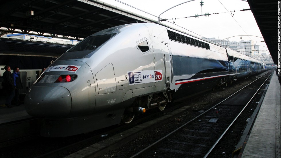 France's high-speed trains have hit a maximum speed of 236 mph, although this V150 TGV model has gone faster in tests.