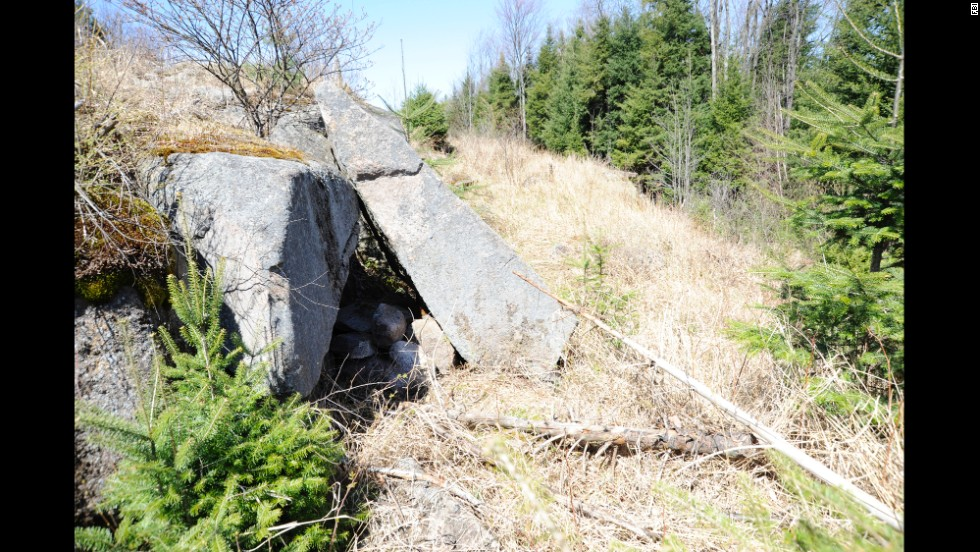 Authorities discovered this cache of materials at Blake Falls Reservoir in Adirondack Park in Parishville, New York.