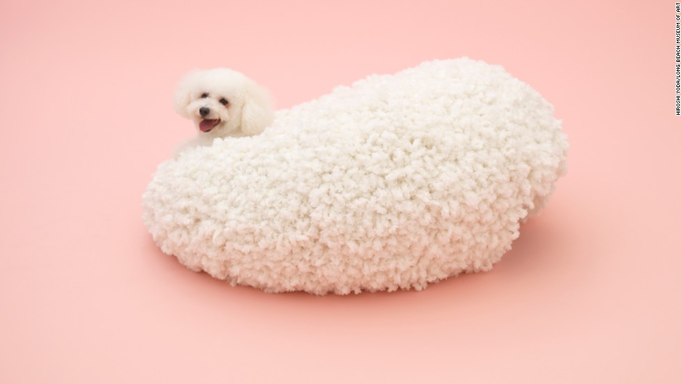 "Kazuyo Sejima's ""Architecture for Bichon Frise"" is a fuzzy, cocoonlike den that doubles as a floor pillow."