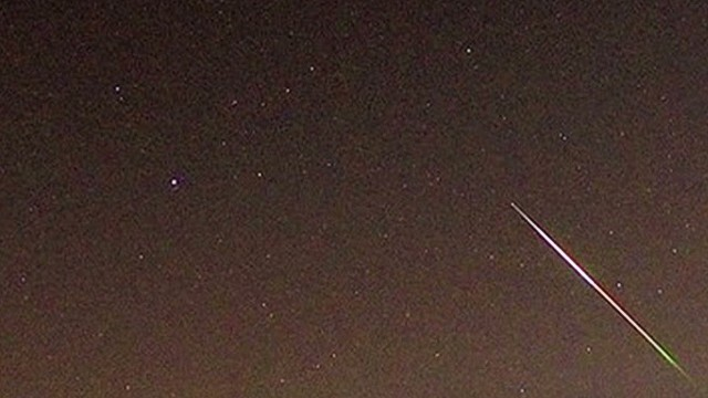 Perseid meteor shower lights up the sky