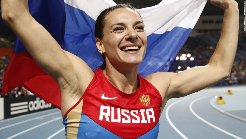 Isinbayeva won her third world title, and her first since 2007, to add to her two Olympic golds. She is one of Russia's most high-profile athletes and will have a major role as an ambassador for the 2014 Sochi Winter Olympics.