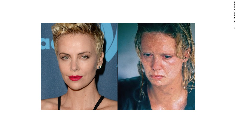 "Charlize Theron gained about 30 pounds and wore crooked prosthetic teeth for her transformation into serial killer Aileen Wuornos in 2003's ""Monster."" She won a best actress Oscar."