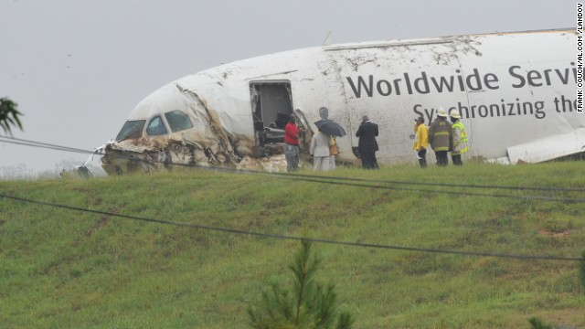 A UPS cargo plane crashed just short of the Birmingham, Alabama, airport last August, killing both pilots.