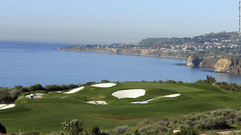 There are nearly 16,000 golf courses in the United States, 10,000 of which are open to the public. The median price of a round is $28 but prices vary depending on the course, with the exclusive Trump National Golf Club in Los Angeles costing $280 to play. According to research by SRI, there were more than 75 construction projects under way as of 2011, contributing $515.8 million to the economy.