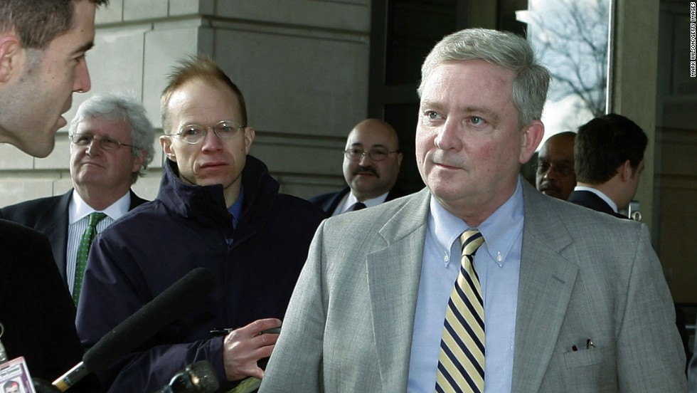 Former U.S. Rep. Bob Ney, a Republican from Ohio, was sentenced to 30 months in prison in 2007 after being convicted of conspiracy to commit fraud and making false statements to investigators.
