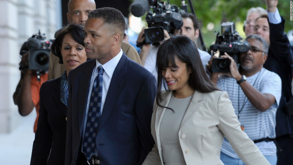 "Former U.S. Rep. Jesse Jackson Jr. of Illinois arrives at federal court in Washington on Wednesday, August 14, 2013, with his wife, Sandi. Jackson was <a href=""http://www.cnn.com/2013/08/14/justice/jesse-jackson-jr-sentencing/index.html"">sentenced to 30 months in prison</a> for misusing about $750,000 in campaign funds. Sandi Jackson received a 12-month sentence for filing false tax returns."