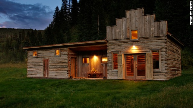 The spa at Dunton Hot Springs: rustic outside, luxurious inside.
