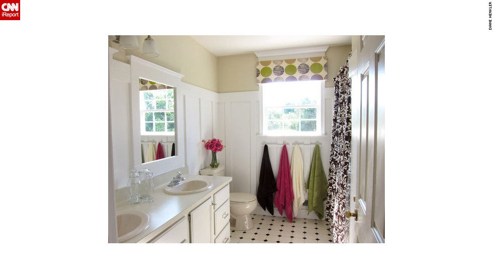 "<a href=""http://ireport.cnn.com/docs/DOC-1019735"">Diane Henkler's</a> $265 <a href=""http://inmyownstyle.com/2011/08/diy-home-improvement-how-i-updated-a-bathroom-on-a-budget.html"" target=""_blank"">bathroom makeover</a>."