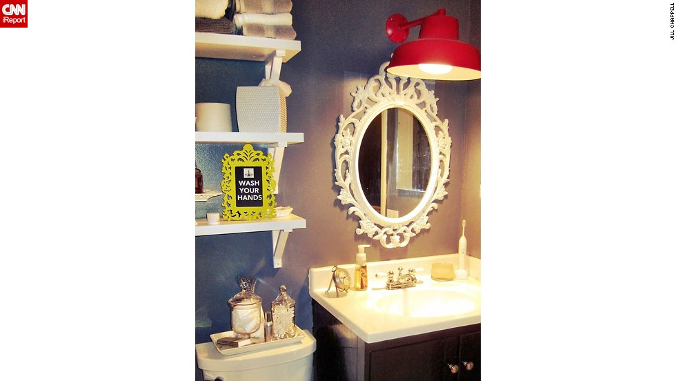 "<a href=""http://ireport.cnn.com/docs/DOC-1014983"">Jill Chappell's</a> painted bathroom update."