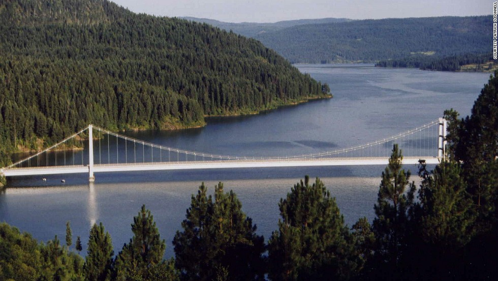 "Dent Bridge, spanning Idaho's Dworshak Reservoir, is the 11th-highest bridge in the United States, according to <a href=""http://highestbridges.com/wiki/index.php?title=Dent_Bridge"" target=""_blank"">highestbridges.com</a>."