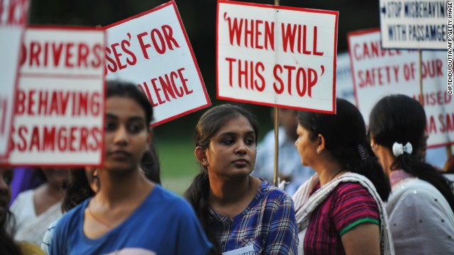 Indian activists holds placards as they protest against violence and crimes against women in Siliguri on July 26, 2013. Indian lawmakers in March increased punishments for sex offenders to include the death penalty if a victim dies and a minimum 20-year prison sentence for gang-rape, but the new laws did not go far enough to tackle gender inequality or protect women, a UN special envoy said in May. AFP PHOTO/ Diptendu DUTTA (Photo credit should read DIPTENDU DUTTA/AFP/Getty Images)