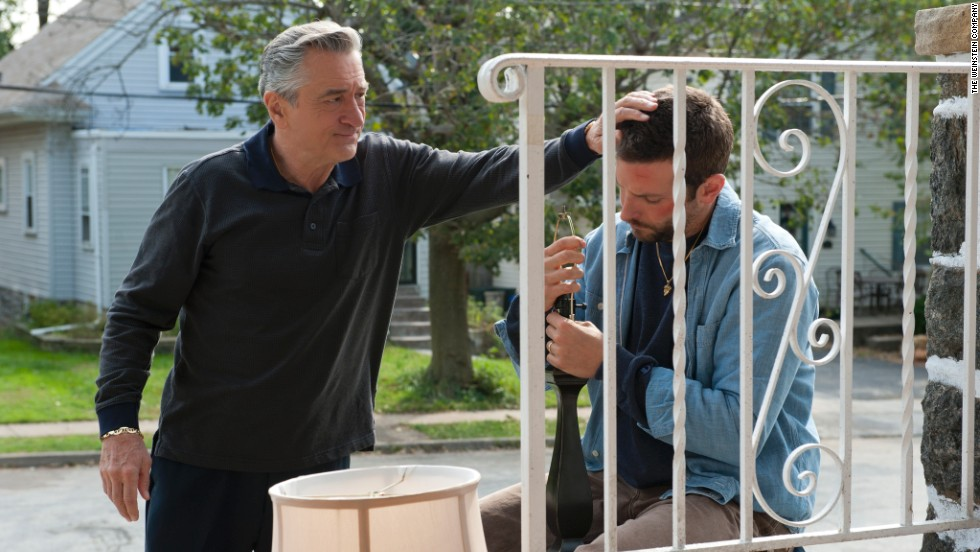 "De Niro received his latest Oscar nomination for his performance in 2012's ""Silver Linings Playbook,"" in which he plays the obsessive-compulsive father of Bradley Cooper, right."