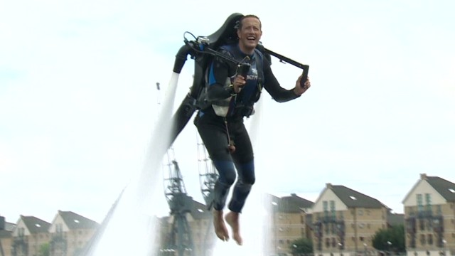 Water powered jet pack lets you fly