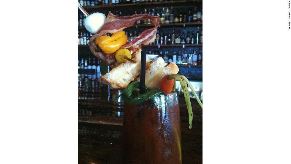 A hangover cure cocktail that doubles as a sandwich.