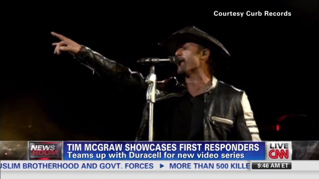 Tim McGraw praises first responders