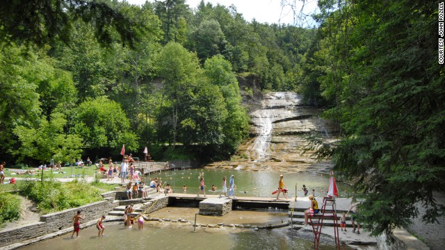 Readers shared freshwater ideas too, including Buttermilk Falls State Park in New York's Finger Lakes region.