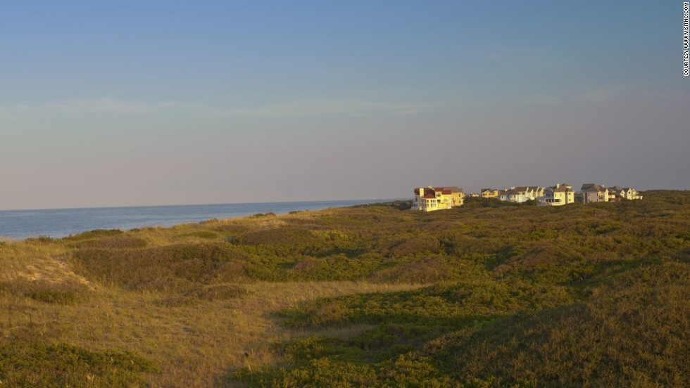 North of Nags Head on the Outer Banks, the area went undeveloped until the 1980s.