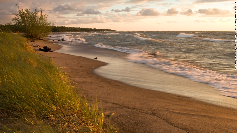 Ohio's longest public beach on Lake Erie is surrounded by Headlands Dunes State Nature Preserve, a haven for migrating birds, monarch butterflies and rare dune flora.