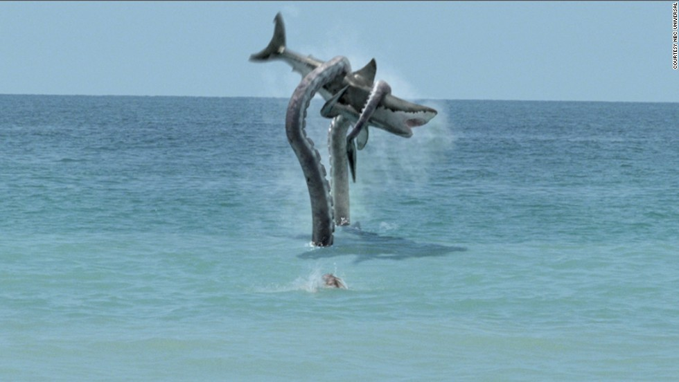 "Syfy created a pop culture monster with 2010's ""Sharktopus,"" which featured a genetically engineered creature that was half-shark, half-octopus. It was clearly the next step to take after 2009's ""Mega Shark vs. Giant Octopus"" battle, which featured an endlessly watchable scene <a href=""http://www.youtube.com/watch?v=I16_8l0yS-g"" target=""_blank"">of a plane being attacked by a ridiculously huge shark. </a>"