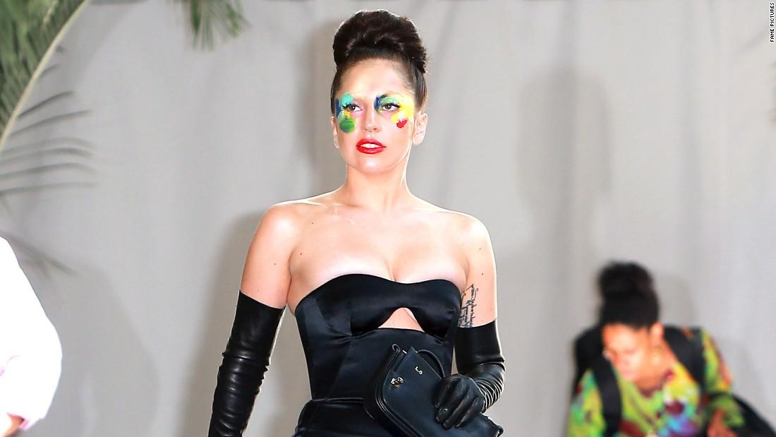Lady Gaga leaves the Chateau Marmont.