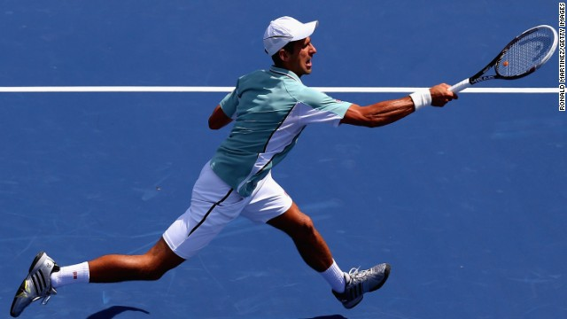 Novak Djokovic, pictured, lost to John Isner at the Cincinnati Masters and Andy Murray also exited in the quarterfinals.