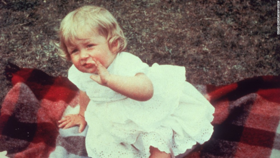 The future princess, Lady Diana Spencer  on her first birthday at Park House, Sandringham, on July 1, 1962.