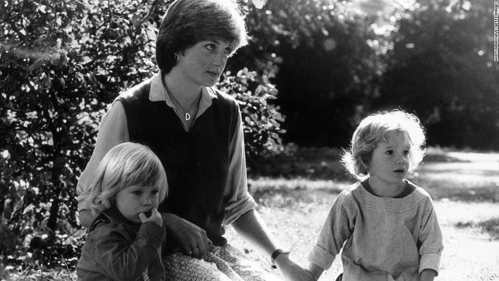 Before marrrying Prince Charles, Diana worked as a nanny. Here she is seen with two of her charges in 1980, the year before she married.