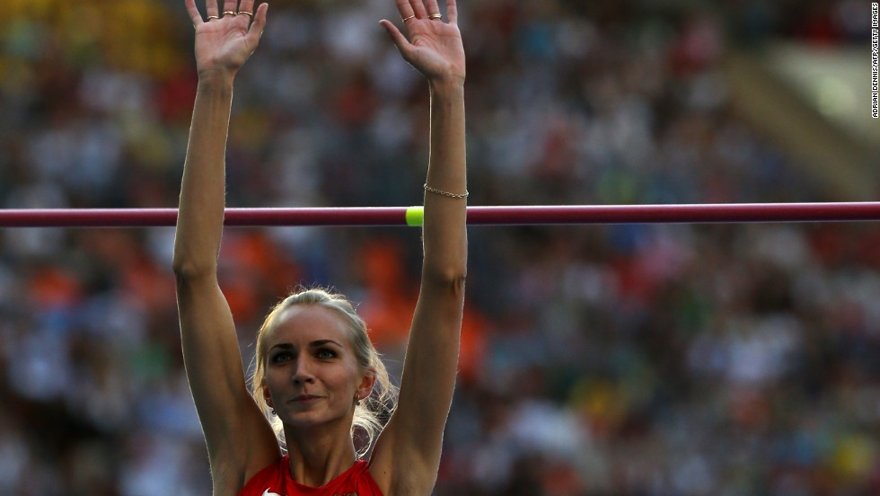 Svetlana Shkolina claimed gold for Russia in the women's high jump going clear at 2.03m with Brigetta Barrett taking the silver.