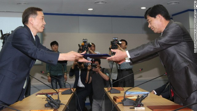 The two countries recently agreed to reopen the Kaesong Industrial complex.