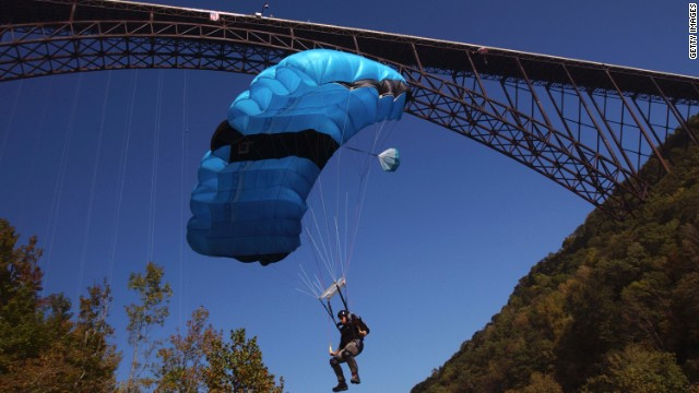 Hundreds jump off the third highest bridge in the U.S. each year at New River Gorge's Bridge Day celebration.