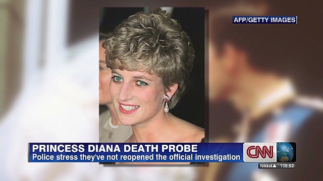 Police: Diana death probe not re-opened