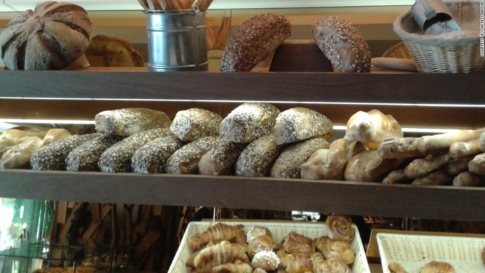 On the menu at the New Hotel: Whether you choose the cold buffet breakfast or hot items a la carte, all guests can be served from the hotel's bakery buffet station. The in-house baker makes many types of baked goods, including breads, pain au chocolat, croissant and brioche.<br />