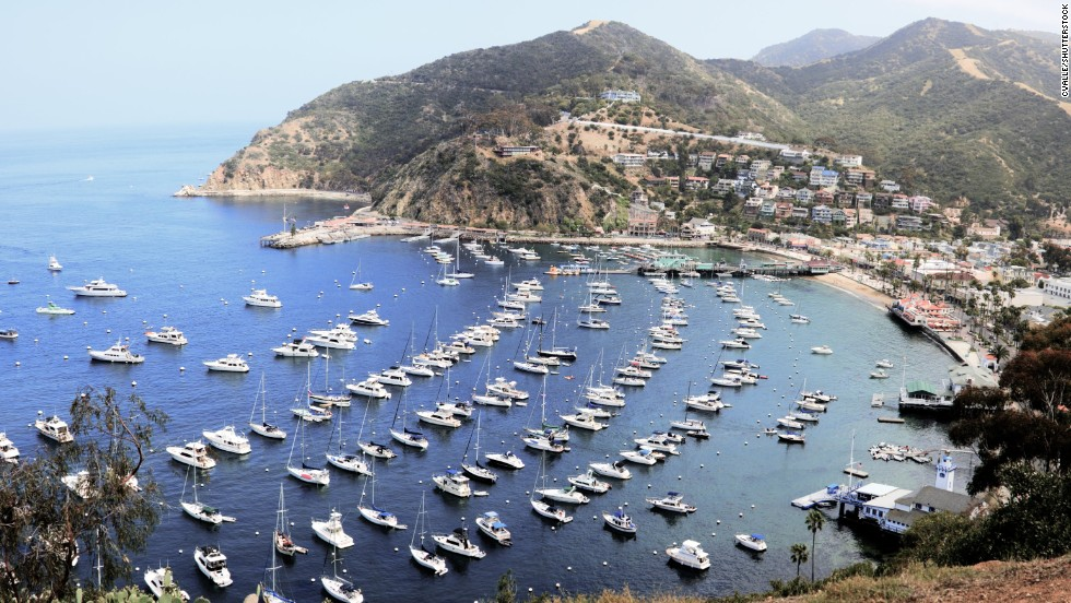 Avalon Harbor is located on the southeast side of Santa Catalina Island.