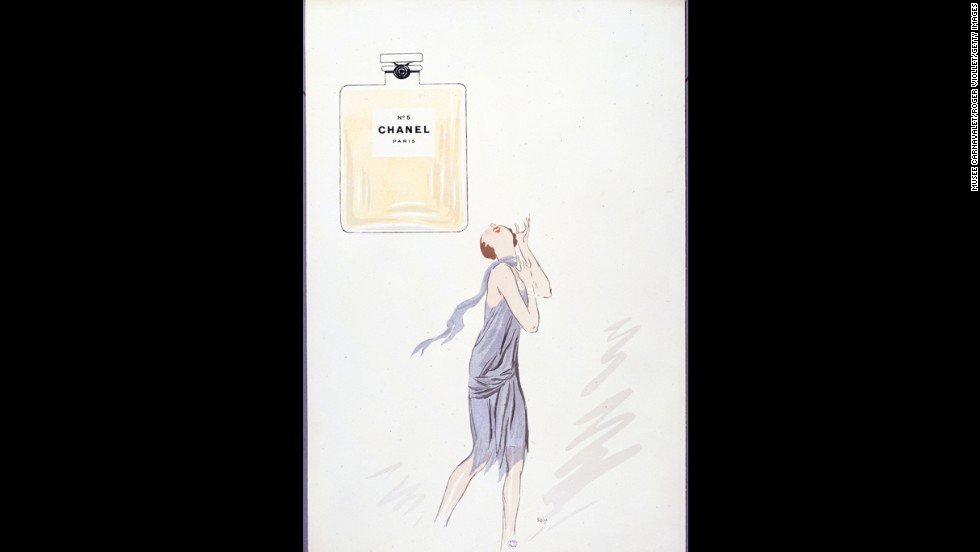 Georges Goursat, a caricaturist known as Sem, created this cartoon for Chanel No. 5 perfume in 1921.
