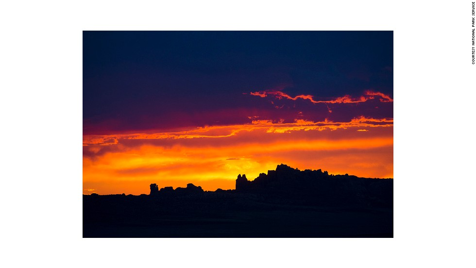 Sunset in the Salt Valley marks the beginning of the day for nocturnal wildlife living in Arches National Park.