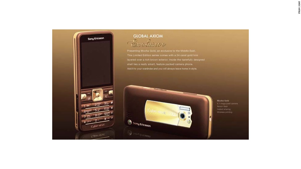 "Sony Ericsson's <a href=""http://www.axiomtelecom.com/uae/index.php/products/product-details/298"" target=""_blank"">Mocha Gold</a> phone was offered exclusively in the Middle East in 2009. It featured 24-carat gold accents and a 5.1-megapixel camera, but no GPS."