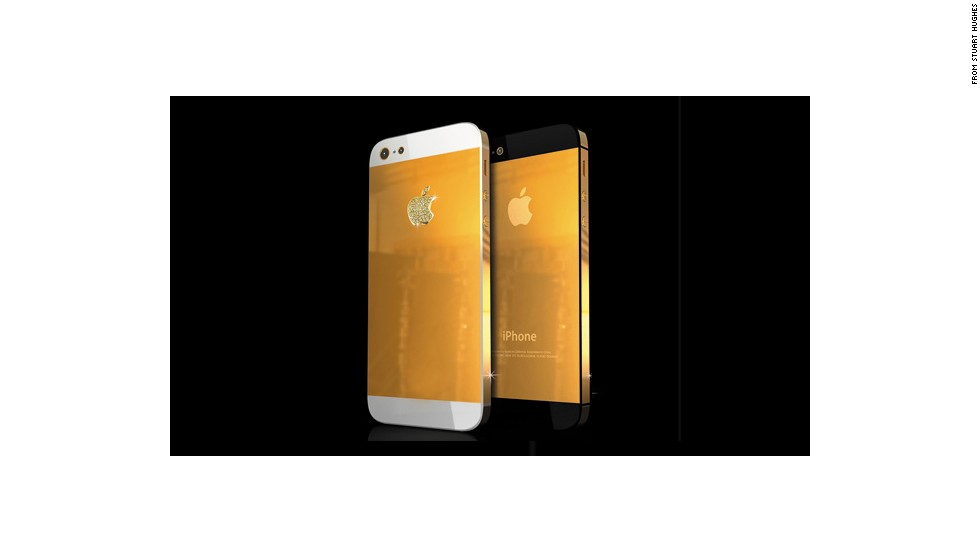 "Apple is rumored to be adding a gold-colored iPhone to its usual black and white lineup. But it won't look quite like this. Luxury retailer <a href=""http://stuarthughes.com/newdawn/product_info.php?products_id=115"" target=""_blank"">Stuart Hughes</a> carries this iPhone 5, made of 18-karat gold, with an Apple logo encrusted in diamonds. Price: $34,500."