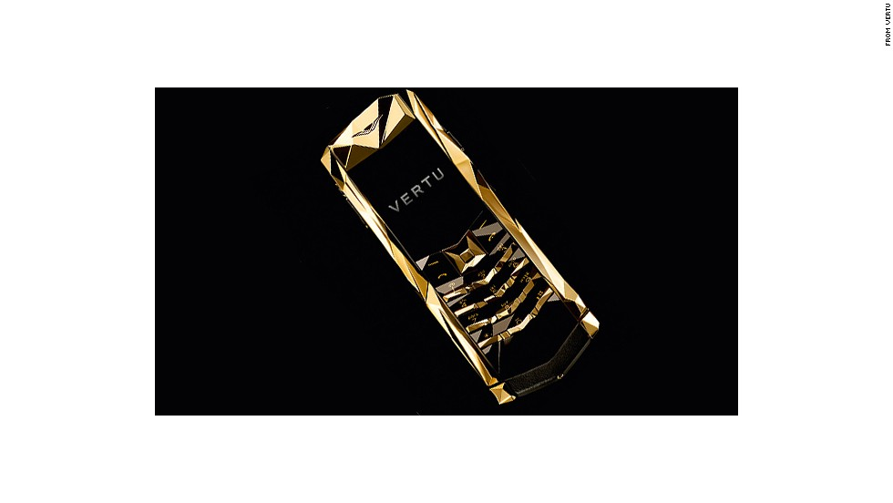 """<a href=""""http://www.vertu.com/en/"""" target=""""_blank"""">Vertu</a> was Nokia's luxury phone arm before the Finnish phone maker sold it off. It has covered phones in gold, titanium, leather, gems and decorative dragons. """"Gold is a color that is always in demand,"""" says Vertu CEO Massimiliano """"Max"""" Pogliani."""